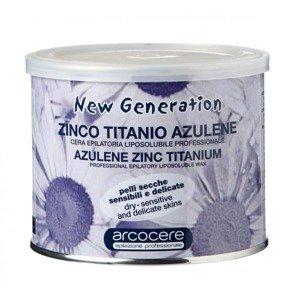 Arcocere Wosk do depilacji Azulene Zinc Titanium 400 ml