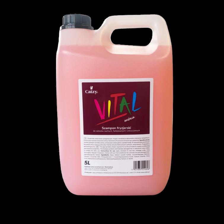 Szampon fryzjerski Catzy VITAL wiśnia 5L